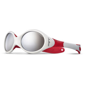 Julbo Looping II Spectron 4 Sunglasses Baby 12-24M White/Red-Gray Flash Silver
